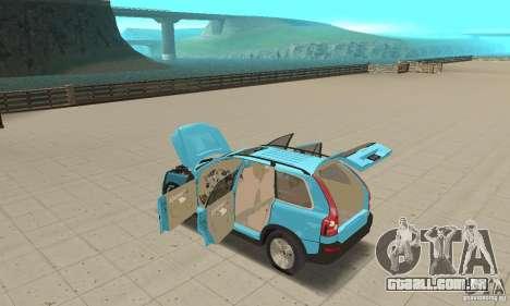 Volvo XC90 para GTA San Andreas vista traseira