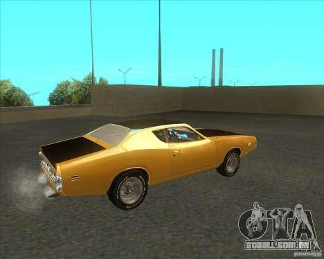 Dodge Charger RT 1971 para GTA San Andreas traseira esquerda vista