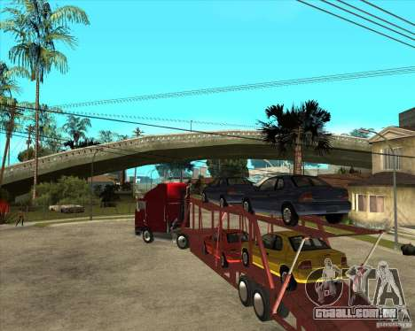 Caminhão semi-reboque para GTA San Andreas vista interior