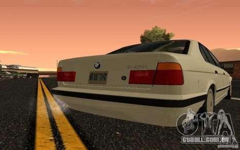 BMW 525 (E34) V.2 para GTA San Andreas vista direita