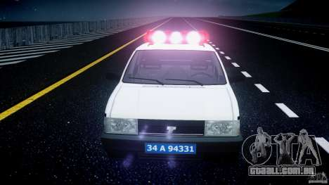 Tofas Sahin Turkish Police v1.0 para GTA 4 vista superior