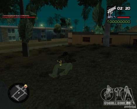 Desert Eagle GOLD para GTA San Andreas por diante tela