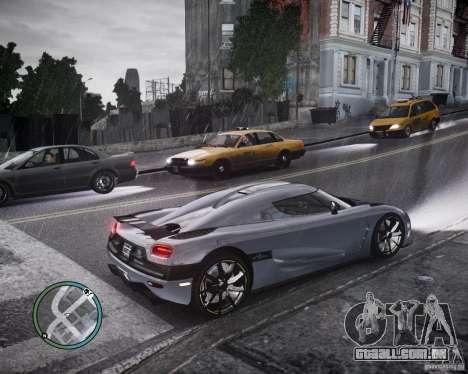 Koenigsegg Agera para GTA 4 vista interior