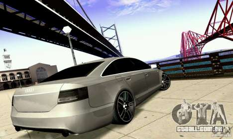 Audi A6 Blackstar para GTA San Andreas vista inferior