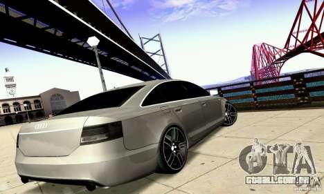 Audi A6 Blackstar para GTA San Andreas vista inferior