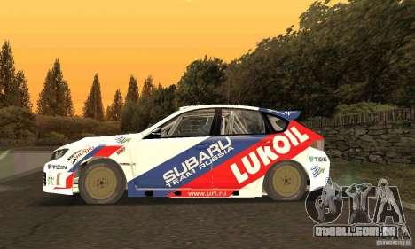 Subaru Impreza WRX STi Russia Rally para GTA San Andreas esquerda vista
