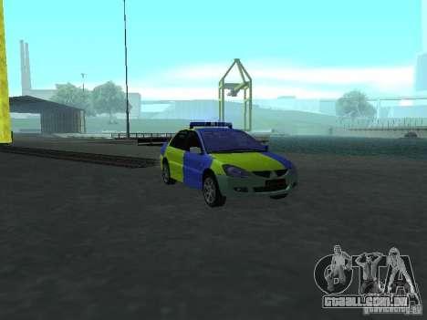 Polícia de Mitsubishi Lancer para GTA San Andreas
