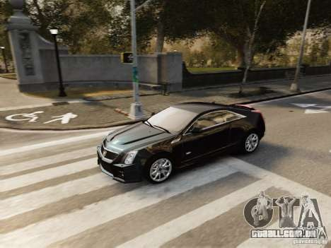 Cadillac CTS-V Coupe 2011 para GTA 4 vista de volta