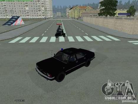 FEDERAL de Volga para GTA San Andreas traseira esquerda vista