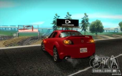 Mazda RX-8 R3 2011 para GTA San Andreas vista direita