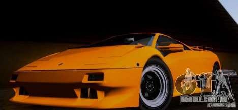 Lamborghini Diablo VTTT Black Revel para GTA San Andreas esquerda vista