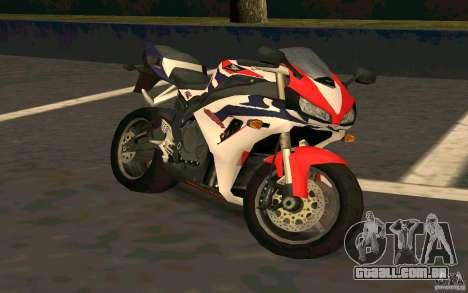 Honda Fireblade 1000RR para GTA San Andreas vista traseira