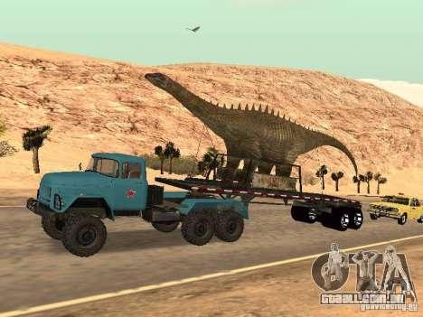 Trailer de dinossauro para GTA San Andreas vista traseira