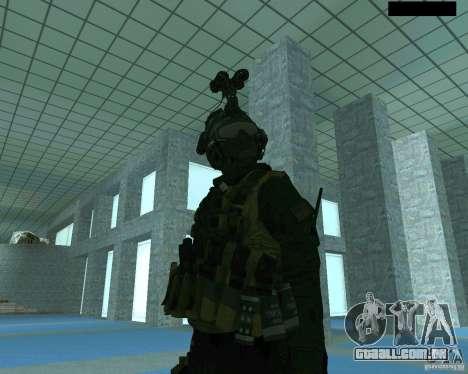 O terceiro soldado da pele Cod MW 2 para GTA San Andreas