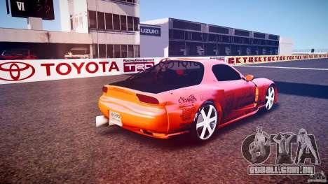 Mazda RX-7 ProStreet Style para GTA 4 traseira esquerda vista