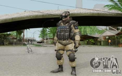 Um engenheiro de Warface para GTA San Andreas