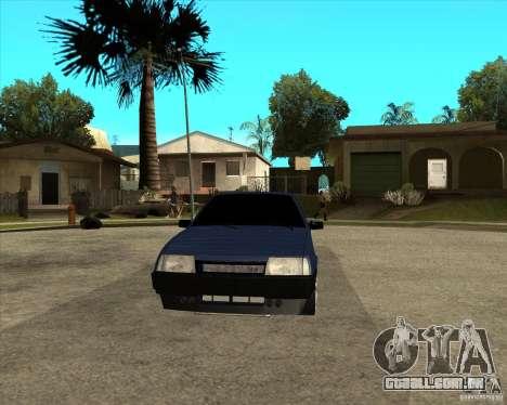VAZ 21099 Tuning luz por Diman para GTA San Andreas vista traseira