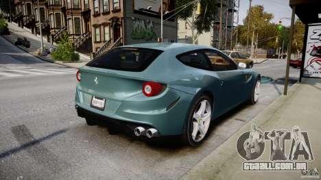 Ferrari FF 2012 para GTA 4 vista superior