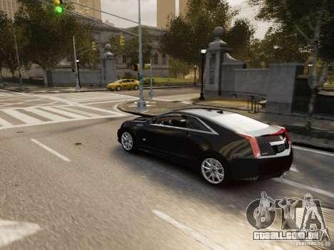 Cadillac CTS-V Coupe 2011 para GTA 4 vista lateral