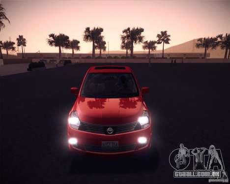 Nissan Versa Stock para GTA San Andreas esquerda vista