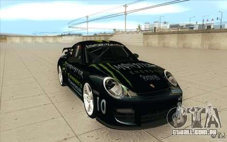 Porsche 997 Rally Edition para GTA San Andreas vista traseira