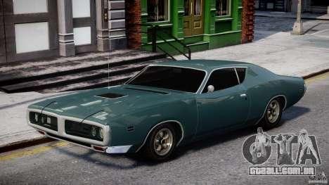 Dodge Charger RT 1971 v1.0 para GTA 4 vista de volta
