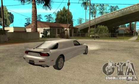 Mazda RX-7 Limousine para GTA San Andreas vista direita