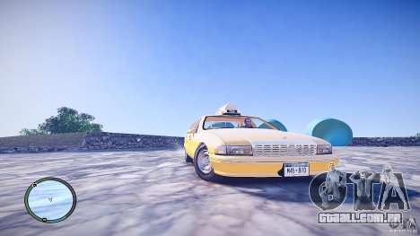 Chevrolet Caprice Taxi para GTA 4 vista direita