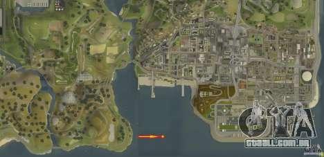 New Aircraft carrier para GTA San Andreas interior