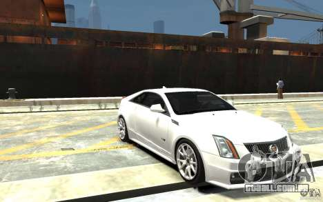 Cadillac CTS-V Coupe 2011 v.2.0 para GTA 4 vista de volta