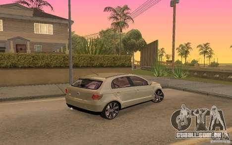 Volkswagen Gol G6 para GTA San Andreas vista direita