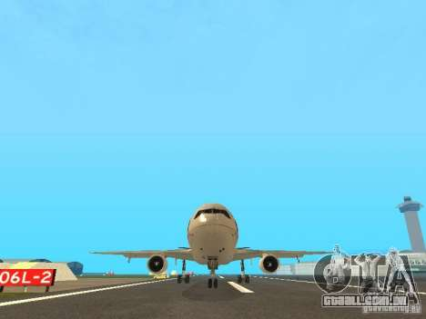 McDonell Douglas  DC 10 Thai Airways para GTA San Andreas vista traseira