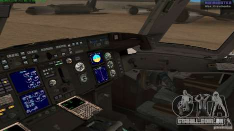 Boeing 757-200 Final Version para GTA San Andreas vista direita