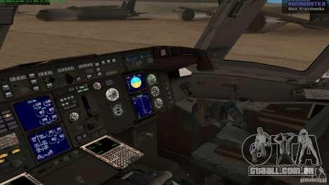 Boeing 757-200 Final Version para GTA San Andreas vista direita