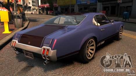 New Sabre GT para GTA 4 traseira esquerda vista