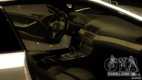 BMW E46 M3 Coupe 2004M para GTA San Andreas vista traseira