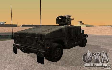 Hummer H1 from Battlefield 3 para GTA San Andreas esquerda vista