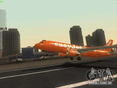 Airbus A320-214 EasyJet 200th Plane para GTA San Andreas vista interior