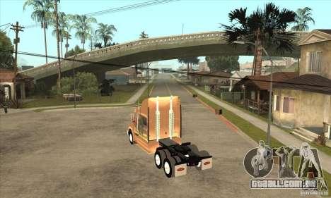 Peterbilt 387 pele 3 para GTA San Andreas vista direita