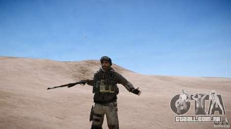 Capitão preço do COD MW3 para GTA 4 sexto tela
