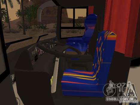Marcopolo Paradiso 1800 G6 8x2 SCANIA para GTA San Andreas vista interior
