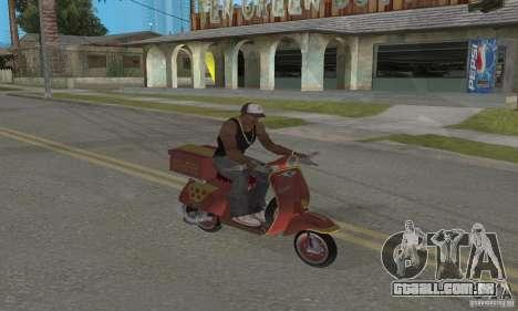 Vespa N-50 Pizzaboy para GTA San Andreas vista traseira