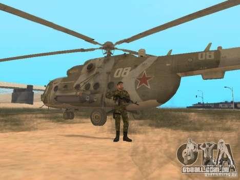 Pára-quedista soviético para GTA San Andreas quinto tela