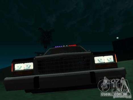 Ford Crown Victoria LTD 1992 SFPD para GTA San Andreas esquerda vista