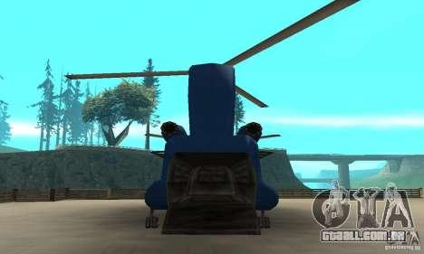 CH-47 Chinook ver 1.2 para GTA San Andreas vista direita