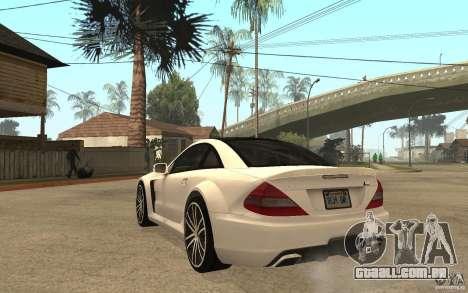 Mercedes-Benz SL65 AMG BS para GTA San Andreas traseira esquerda vista