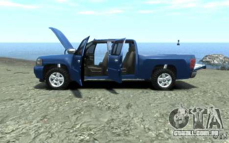 Chevrolet Silverado 2008 para GTA 4 vista lateral