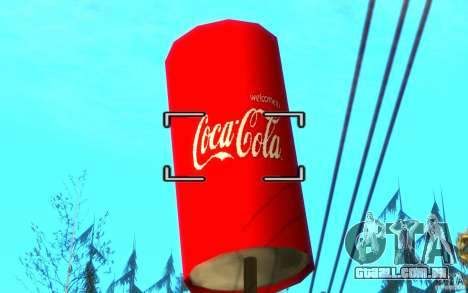 Fábrica de Coca-Cola para GTA San Andreas por diante tela