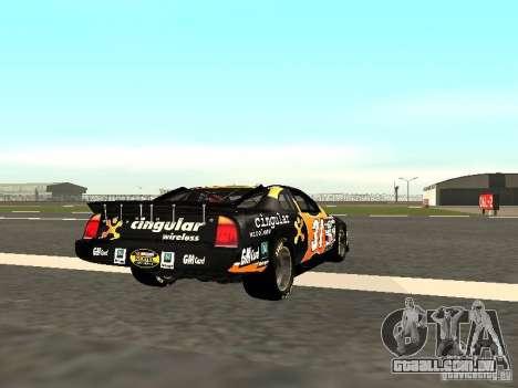 Chevrolet Monte Carlo Nascar CINGULAR Nr.31 para GTA San Andreas vista direita