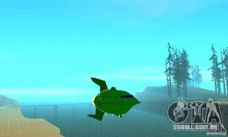 Planet Express para GTA San Andreas vista traseira